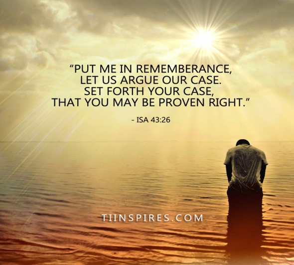 REMIND GOD ABOUT YOU